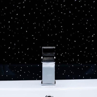 Black Sparkle Bathroom Wall Panels PVC 5mm Thick Cladding 2.6m x 250mm