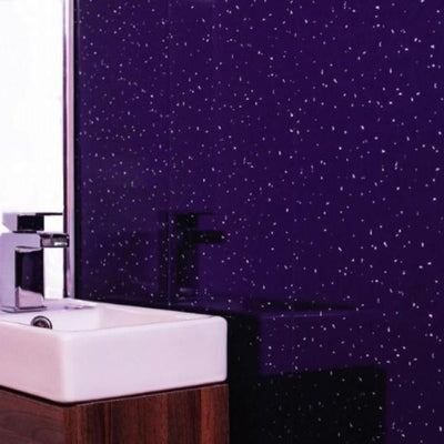 Purple Sparkle Bathroom Wall Panels PVC 5mm Thick Cladding 2.6m x 250mm