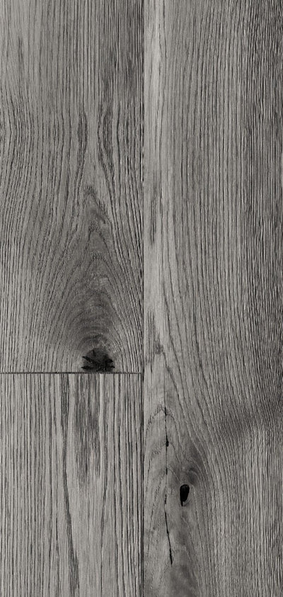 Distressed Grey Oak Wood Bathroom Wall Panels PVC 8mm Thick Cladding 2.6m x 0.25m (Pack of 4)