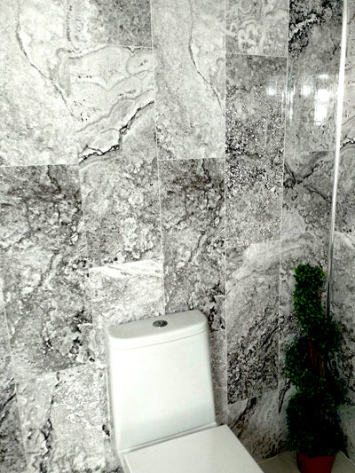 Florence Marble Tile Effect Pack of Four 8mm Thick Wall PVC Bathroom Cladding Panels 2.7m x 250mm