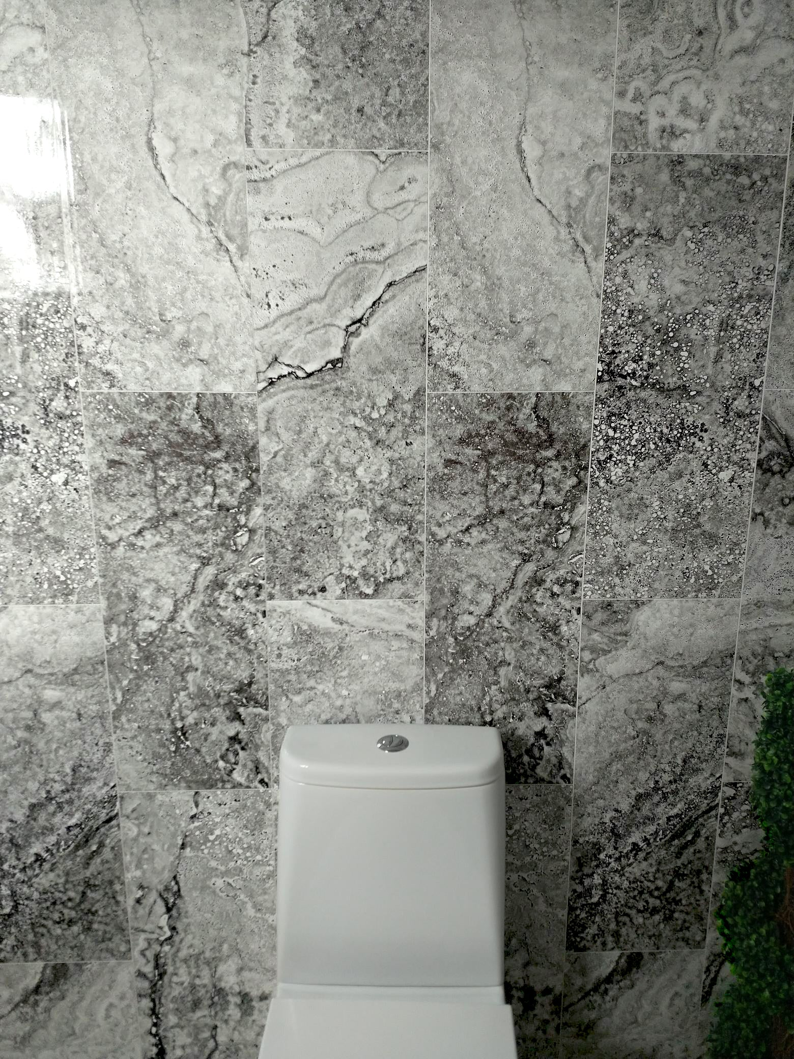 florence marble tile effect pack of four 8mm thick wall