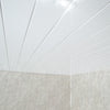 White Gloss Chrome 5mm Ceiling Cladding For Bathrooms
