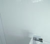 Gloss White 10mm Large Shower Bathroom Wall Panels 2.4m x 1m - CladdTech