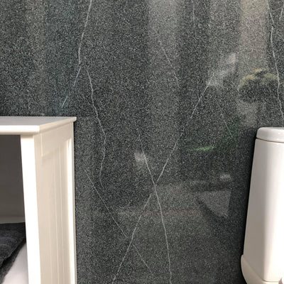 Sample of Grey Granite Large 10mm Thick Bathroom Wall PVC Cladding Panels