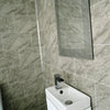 Grey Marble Tile Groove 8mm PVC Panels For Walls