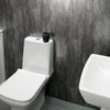 Grey Metallic Retro Large 10mm Thick Bathroom Wall PVC Cladding Panels - CladdTech