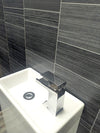 Executive Small Tile 8mm Wall Panels For Bathrooms PVC Wall Cladding 2.6m x 0.25m