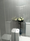 Grey Sparkle & Chrome Bathroom Wall Panels PVC 5mm Thick Cladding
