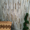 Sample of Marino Natural Wood Bathroom Wall Panels PVC 8mm Thick Cladding 2.6m x 0.25m - Claddtech