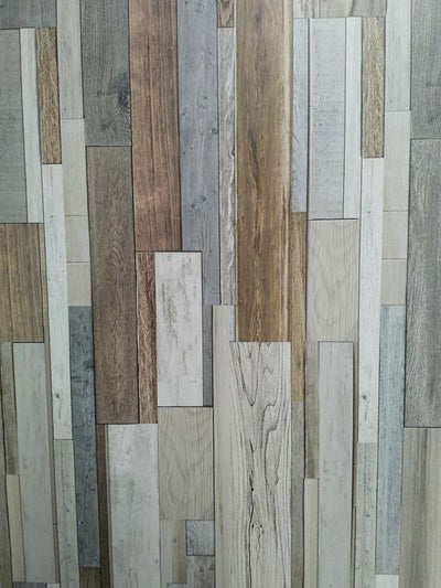 Marino Natural Wood Bathroom Wall Panels PVC 8mm Thick Cladding 2.6m x 0.25m (Pack of 4)