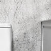 White Alabaster Marble Bathroom Cladding 5mm Shower Wall Panels 2.6m x 0.25m - CladdTech