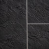 Sample of Hewn Slate Tile Groove Bathroom Wall Panels 8mm Shower Cladding - Claddtech