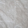 Sample of Grey Marble Tile Groove 2600mm x 250mm x 8mm Wall Panel - CladdTech
