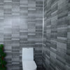 Grey Small Tile Effect 8mm Wall Panels For Bathrooms - Claddtech