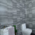Grey Anthracite Tile Effect Bathroom Wall Cladding Shower Panels 2.6m x 0.25m x 5mm