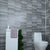 Grey Small Tile Effect 8mm Wall Panels For Bathrooms