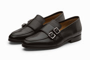 Double Monkstrap Loafer - Black