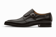 Single Monkstrap Leather Shoes - Black