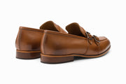Double Monkstrap Loafer - Tan