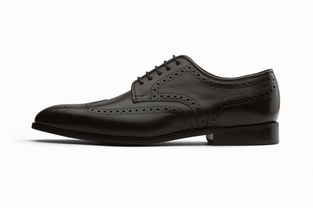 Wingtip Brogue Derby- Black