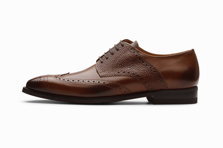 Felix Leather Wingtip Brogue Shoes - Brown