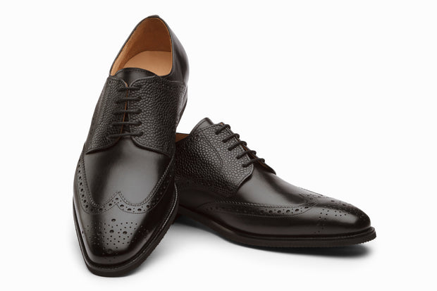 Felix Leather Wingtip Brogue Shoes - Black