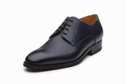 Grain Leather Derby - Navy