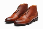 Scotch Grain Toecap Leather Boots - Cognac