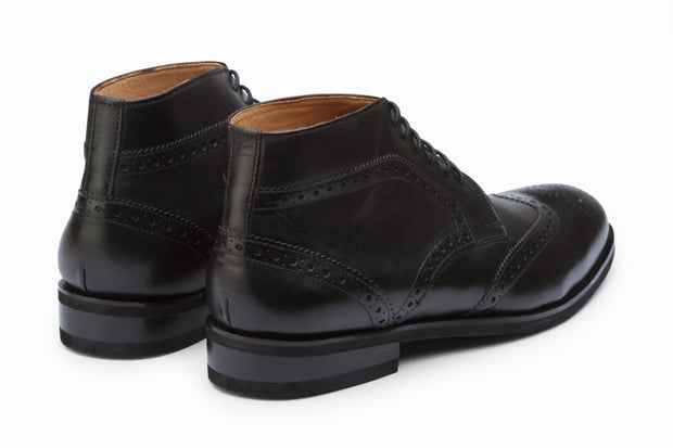 Wingtip Brogue Boots - Black