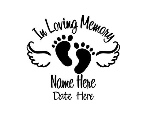 In Loving Memory of Baby Decal