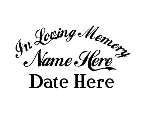 In Memory of Decal Text 7