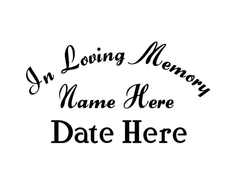 In Memory of Decal Text 8