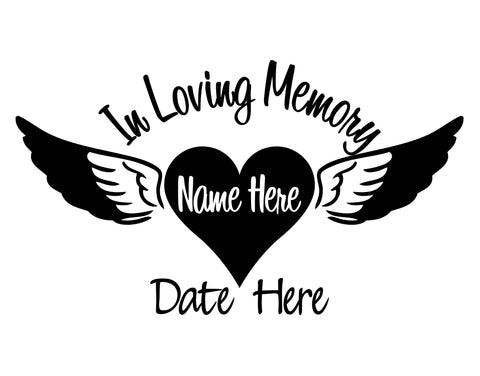 In Loving Memory Heart and Wings