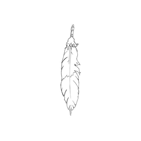 Native American Feather Sticker 3