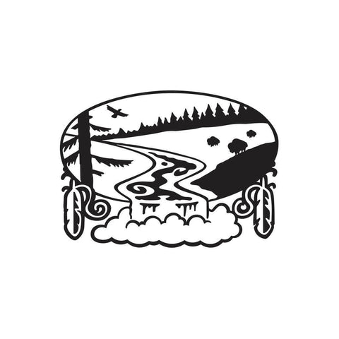 Native American River Sticker 1