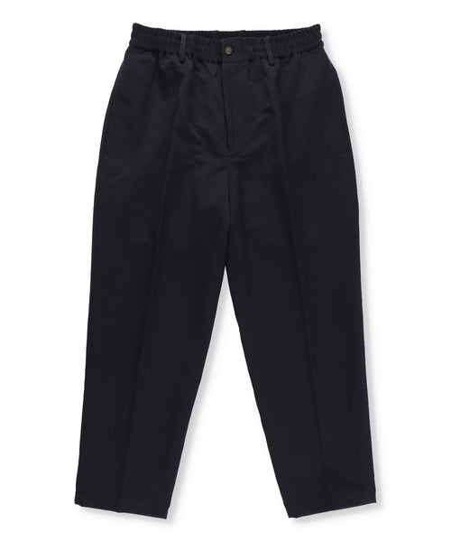 Nylon and Linen Blend Twill Drawstring Trousers