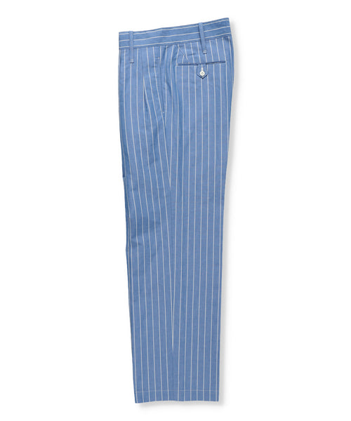 Cotton Linen Striped Trousers