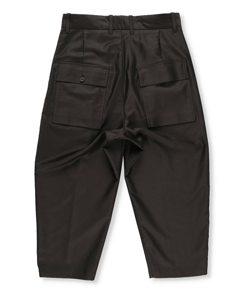 FINX Cotton Moleskin Cropped Trousers