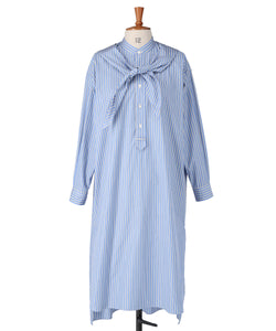 Striped Cotton Poplin Hooded Shirt Dress