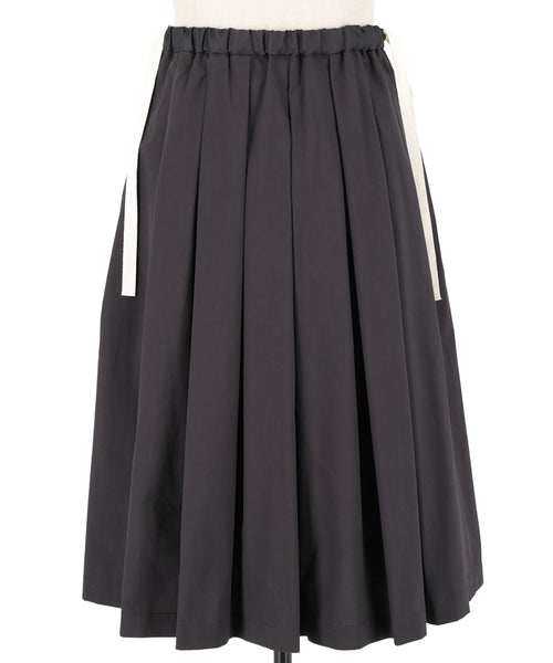 Cotton Weather Cloth Drawstring Skirt