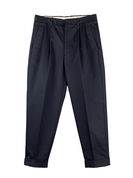 San Joaquin Cotton Chino Pleated Trousers (Men)
