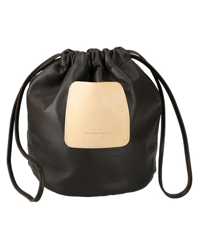 Soft Leather Drawstring Bag