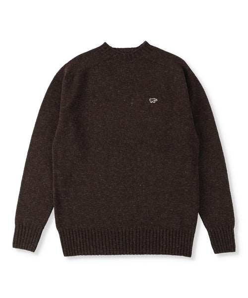 Shetland Wool Crew Neck Sweater (Women)