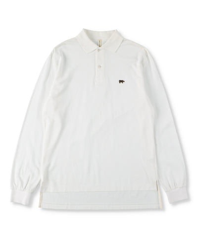 Cotton Pique Long Sleeved Polo Shirt (Men)