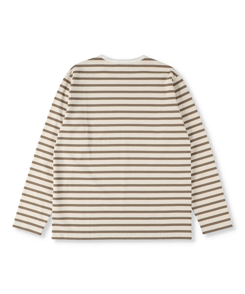 Striped Cotton Jersey Long Sleeved T-Shirt (Womens)