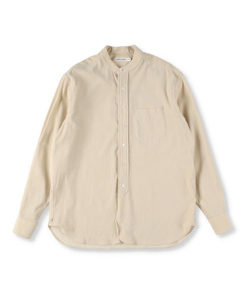 Organic Cotton Corduroy Grandad Collar Shirt (Men)