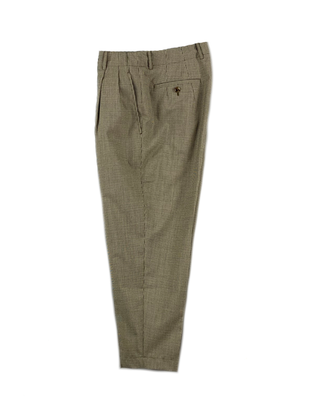 1220-81083 Checked Wool Continuous Waistband Trousers (Women)