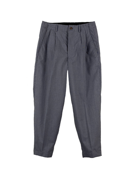 1120-81081 Checked Wool Continuous Waistband Trousers (Men)