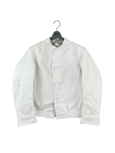 1120-61050 Cotton and Linen Blend Satin Cropped Jacket (Men)