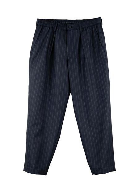 1120-81031 CLISSOLD Striped Wool Drawstring Trousers (MEN)